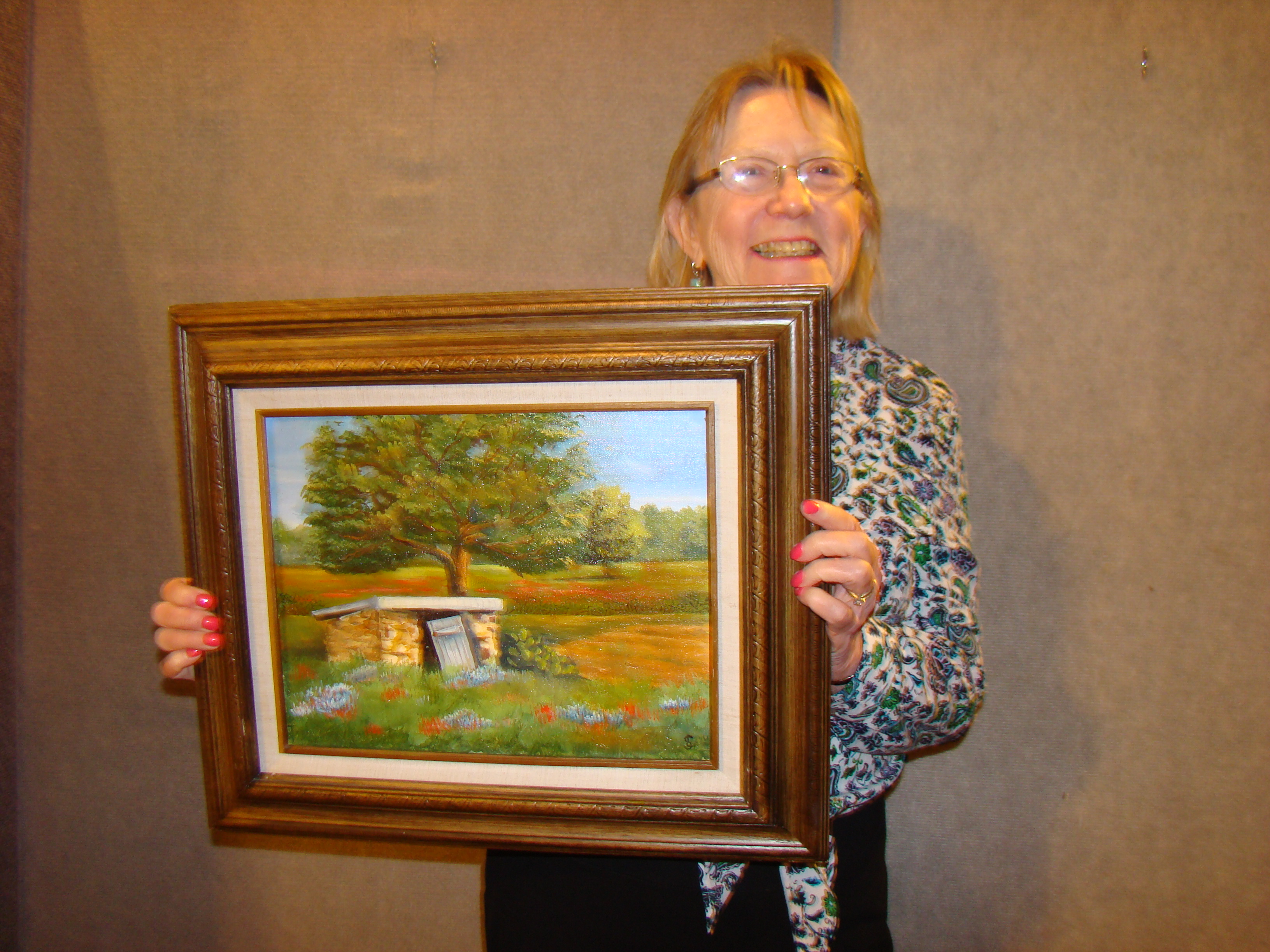 """Mar 2016 AOM - 1st Place - Dottie Vandergriff's """"Fly Away Home"""" - on display at Doss Heritage & Cultural Center"""